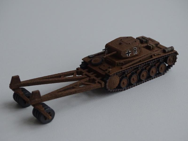 Panzer II mit Minenroller